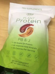 TRU supplements plant based protein PB&J 800g vegan Exp 9/12/22