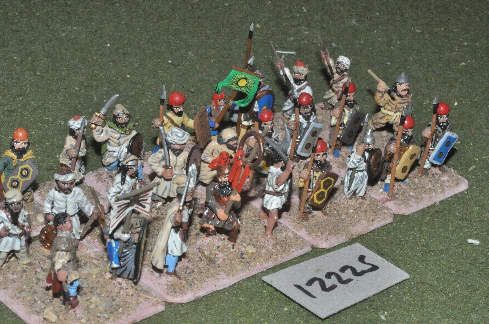 25mm classical   persian - ancient spearmen 27 figs - inf (12225)