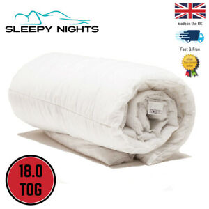 Ultra Extra Warm 18.0 Tog Duvet Quilt Single Double King Superking