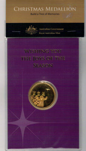 24 Carat Gold Plated 2008 RAM Christmas Medallion