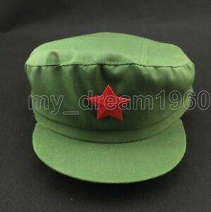 Chinese Army Cadet Military Cap Men s Women s Adjustable Red Star ... 4d7355d769