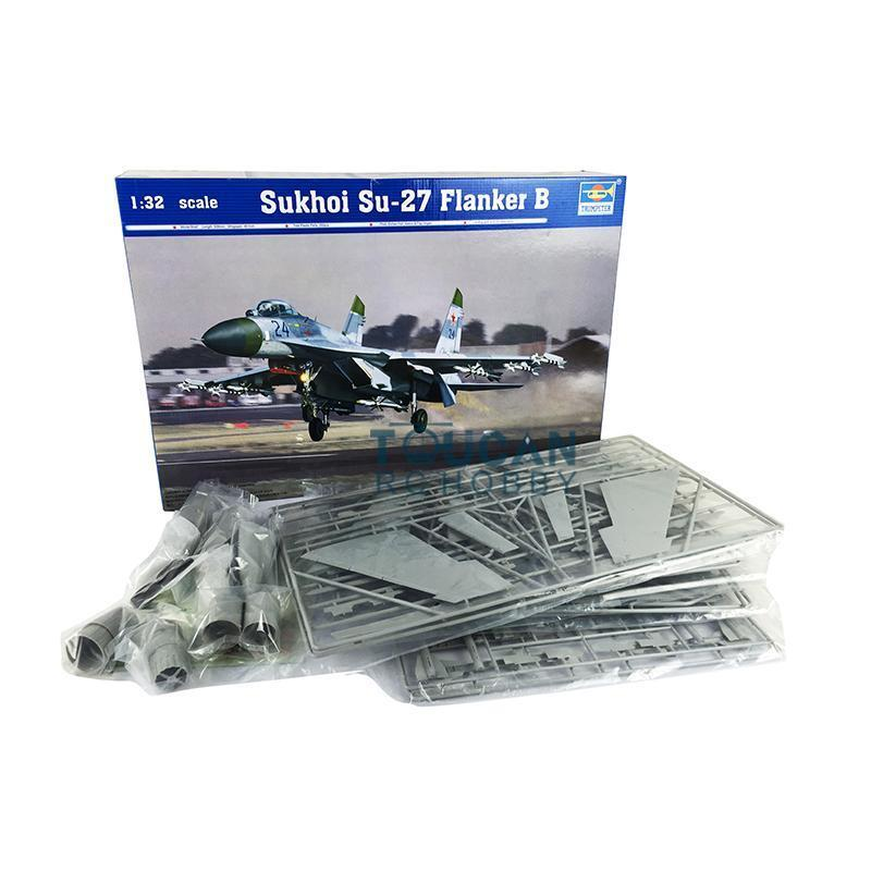1 32 02224 Airplane Static Soviet SU27 Flanker B Aircraft Static Kit Trumpeter