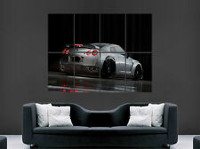 SILVER NISSAN GTR SPORTS CAR FAST RACING WALL ART GIANT PRINT