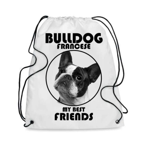 Borsa Sacca cane BULLDOG FRANCESE MY BEST FRIEND