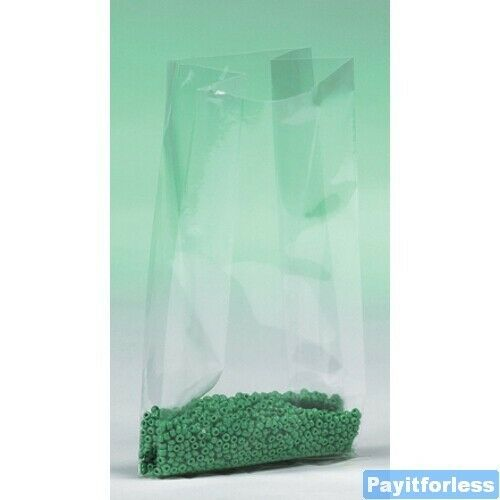 8x4x18 2 Mil Clear Gusset Expand Plastic Poly Bags 1000