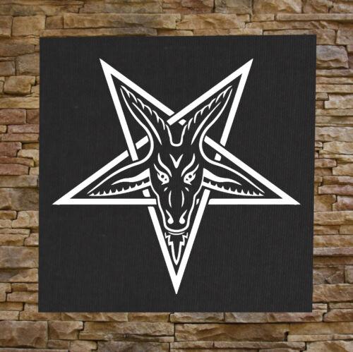 Goat/'s Head Back Patch Pentagram Pentacle Satanic Leviathan Cross Baphomet Skull