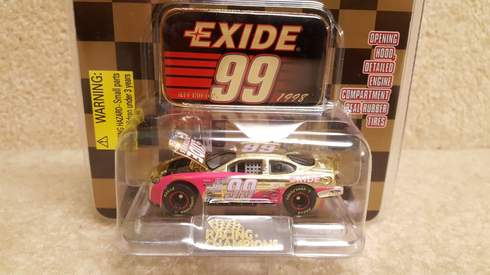 New 1998 Racing Champions 1 64 NASCAR gold Jeff Burton Exide Ford Taurus