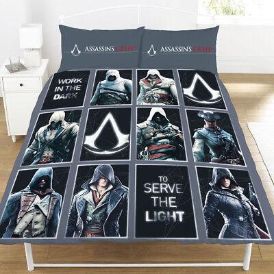 Bettwaren, -wäsche & Matratzen Bettwäschegarnituren Humorvoll Doppelbett Assassin's Creed Legacy Wendebettwäsche-set Paneele Grau Schwarz