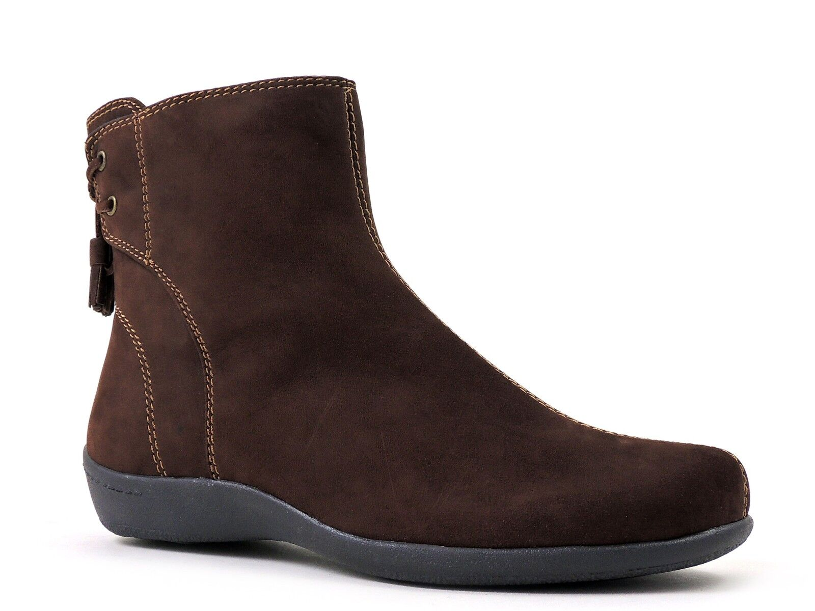 Easy Spirit Women's Westerliest Ankle Boot Autumn Cocoa Brown NU Suede 6 Wide