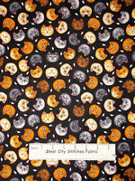 Kitty Cat Animal Fabric ~ Cotton By The Yard ~ RJR Wild Cats Dan Morris Faces