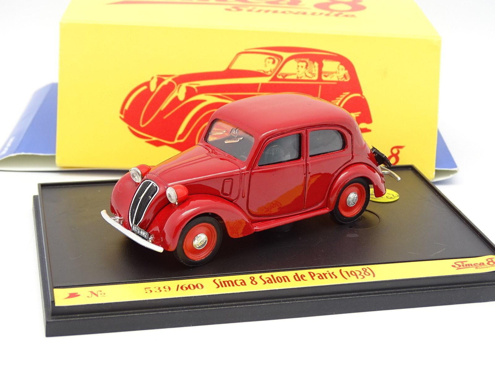 Brumm 1 43 - Simca 8 Tisch- von Paris 1938 Rot