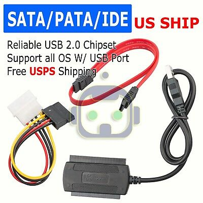 SATA//SSD//HDD Drive to USB 2.0 Adapter Converter Cable for 2.5 Hard Drive Top