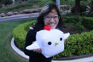 Details About Large Cock Block Plush Crocheted Chicken Block Crochet Handmade Amigurumi