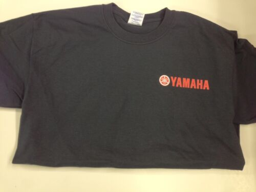 NEW Yamaha Short Sleeve TShirt Black, Red Yamaha Logo
