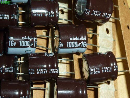10x Nichicon 16V1000uF 16V PJ Electrolytic Capacitors 16X16 105℃