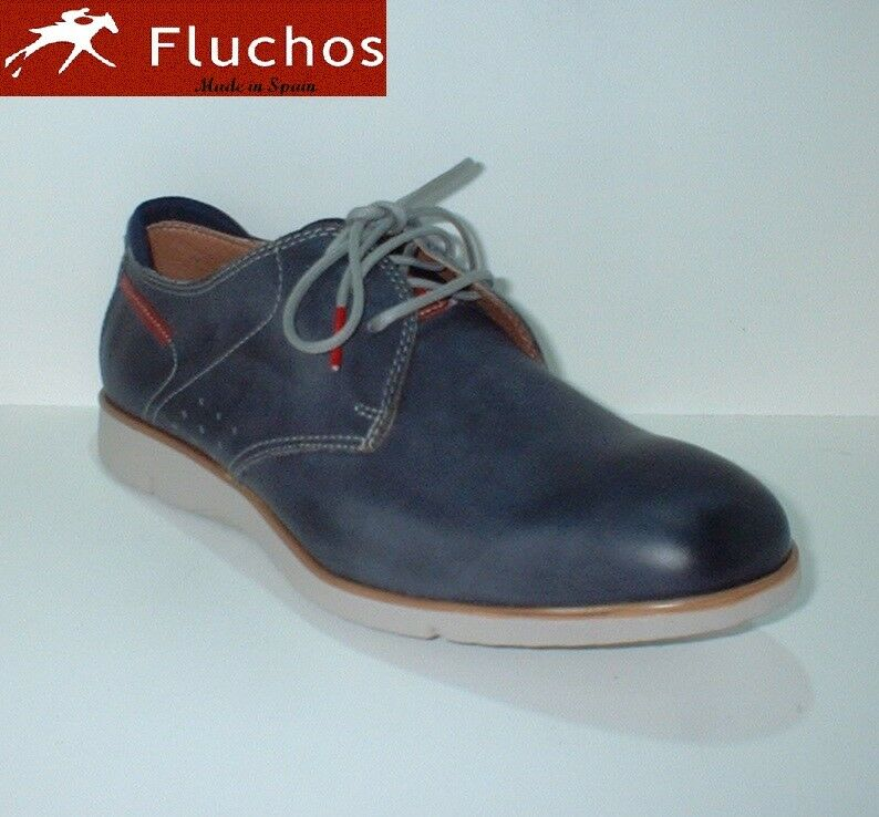 Zapato cordón Fluchos con cámara de aire azul o marrón tallas 43 y 44