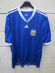 Maillot-ARGENTINE-ADIDAS-ARGENTINA-away-shirt-jersey-camiseta-Climacool-2010-L