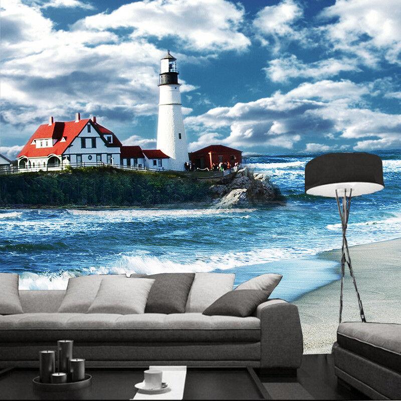 3D Lighthouse Beach 63 Wall Paper Wall Print Decal Wall Deco Indoor Mural Summer