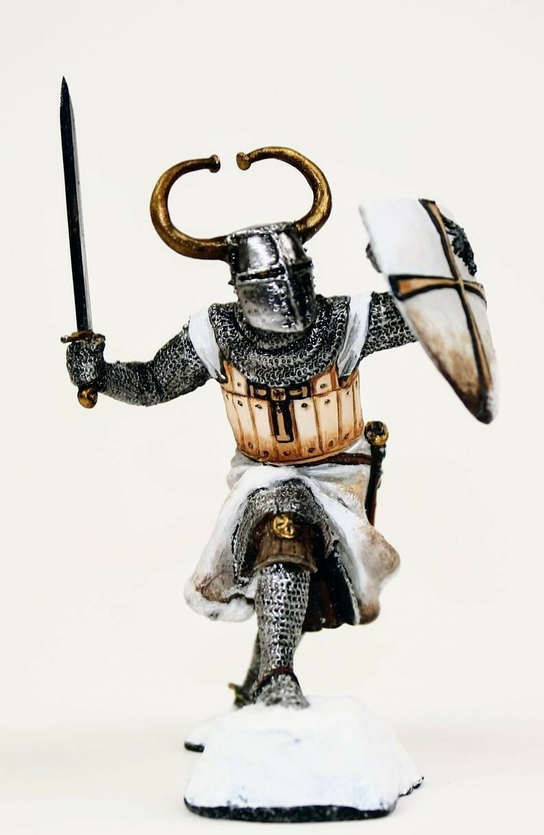 Lead soldier toy,Knight of the Teutonic Order,gift,detailed toy,handpainted
