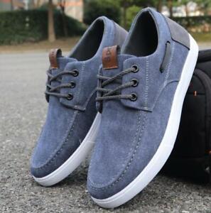 Mens Korean Style Canvas Shoes Flat