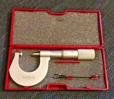 Starrett 575mbp Metric Screw Thread Micrometer 2 25mm Edp56322 Machinist Tool