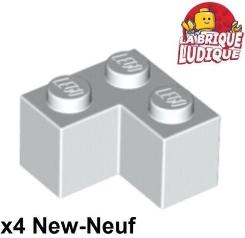Lego 4x Brique Brick 2x2 corner angle blanc//white 2357 NEUF