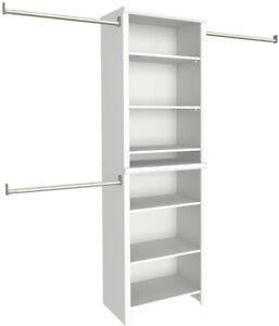 Delightful Image Is Loading Wood Closet Organizer Kit Shelving System Standard Home