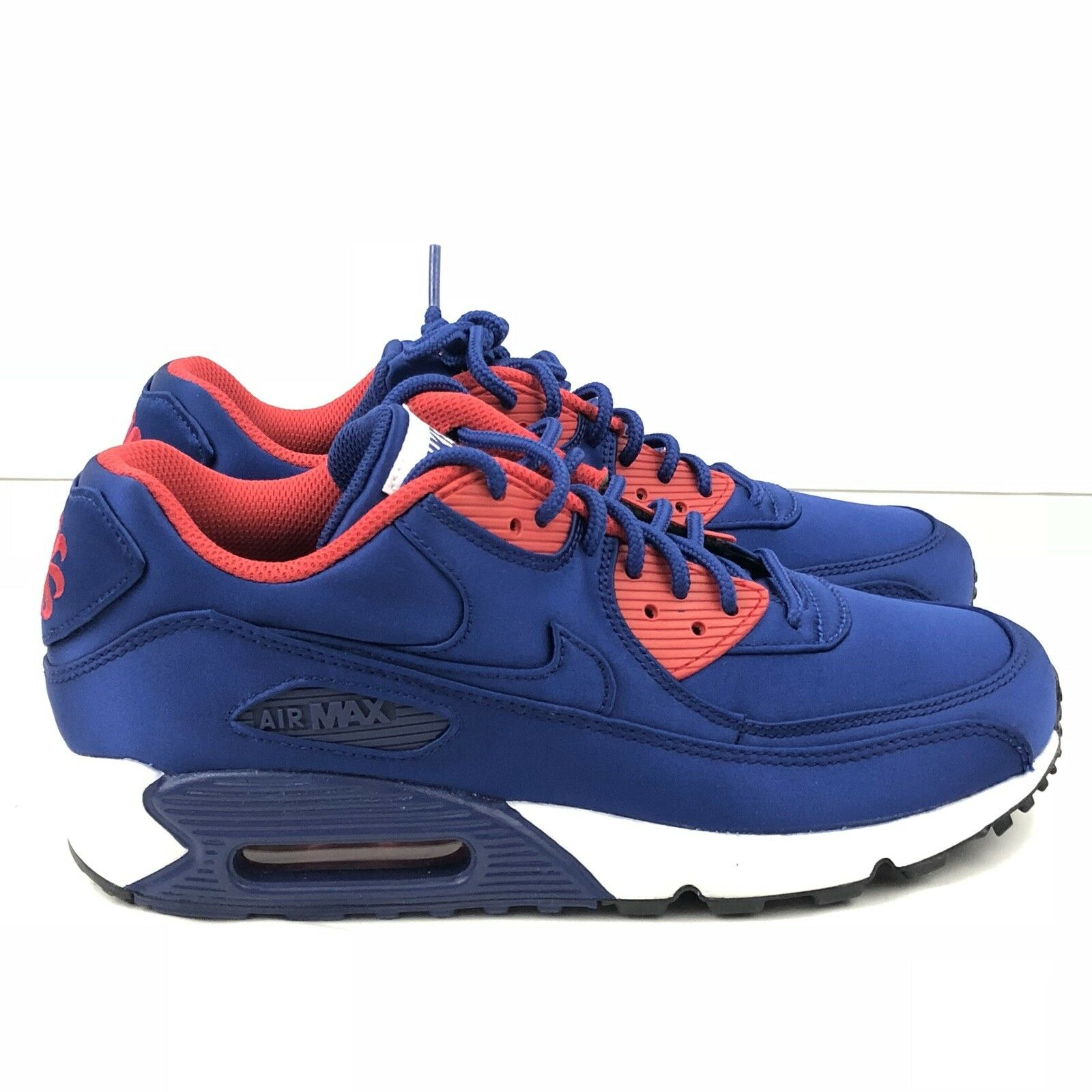 Nike Air Max 90 SE Satin Deep Royal bluee Athletic Fashion AO1063 400 SZ 8.5