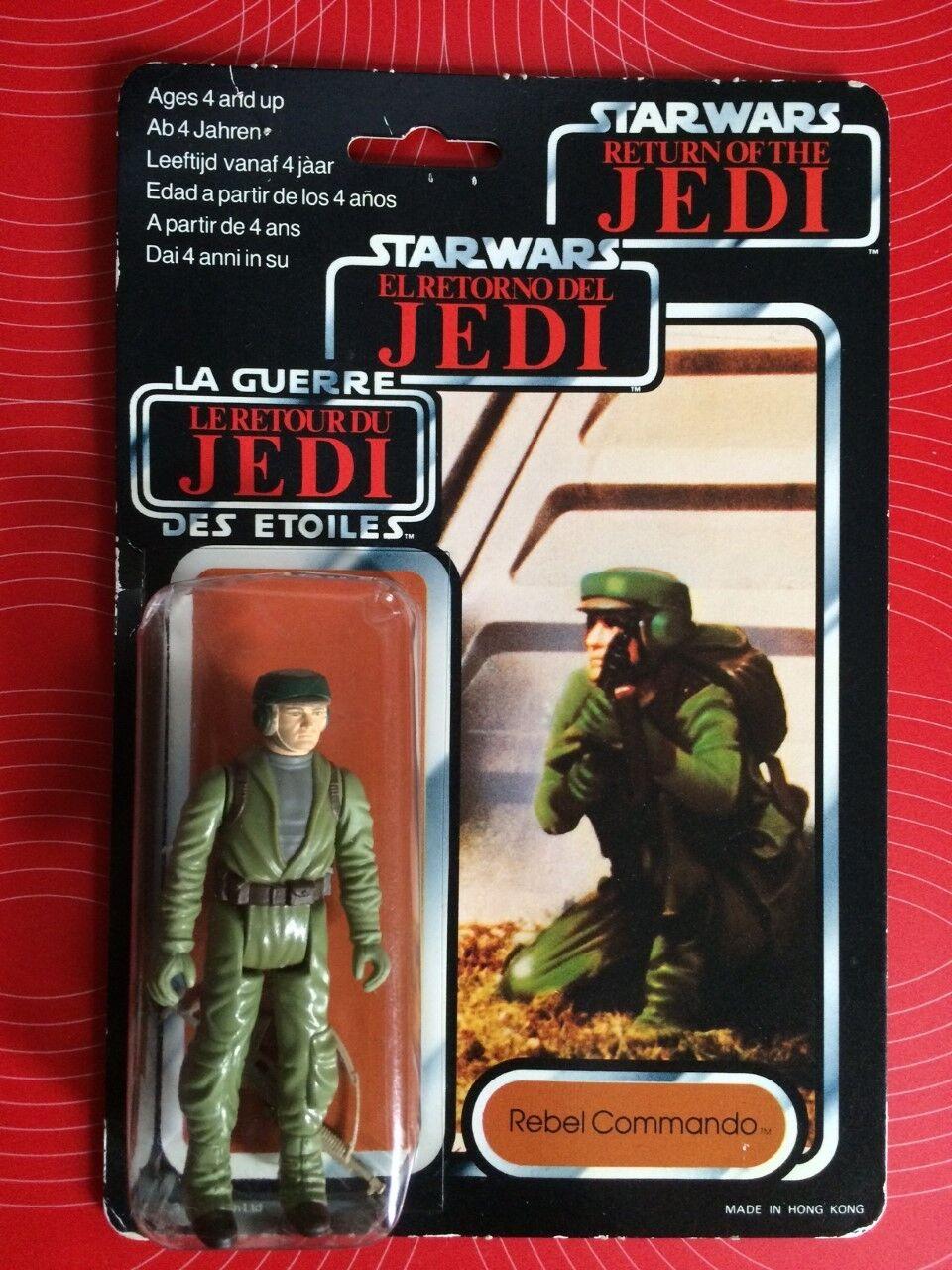 Vintage Star Wars Return of The Jedi Tri Logo Rebel Commando Figure MOC