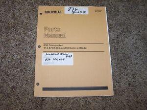 Caterpillar-Cat-836-Compactor-113-5772-00-Landfill-U-Blade-Parts-Catalog-Manual