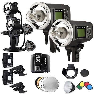 2*Godox AD600BM High Speed Sync Flash +2*600W Head Light +X1T-C Trigger f. Canon
