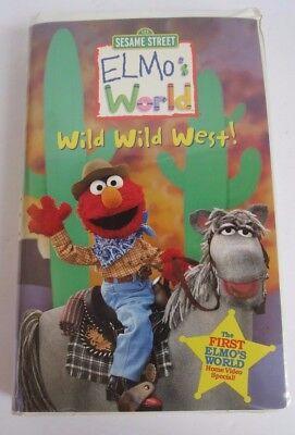 123 Sesame Street Elmo S World Wild Wild West Vhs 2001 Rare Clamshell 1 Ship 74645407333 Ebay