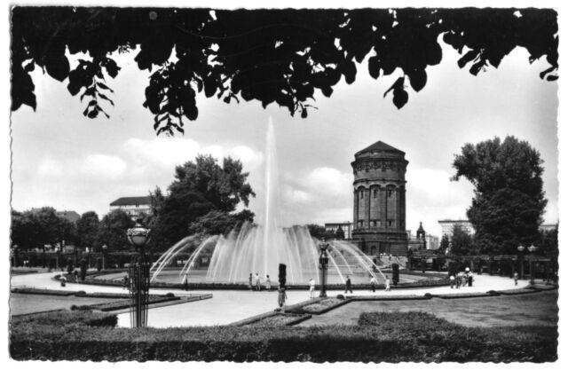 AK, Mannheim, Partie am Wasserturm, 1959