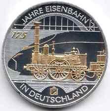 10 Euro 2010 175 Jahre Deutsche Eisenbahn mit Goldapplikation Silber 925/-