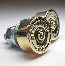 20 Gauge Shotgun Remington Brass Bullet License Plate Bolts Motorcycle Harley