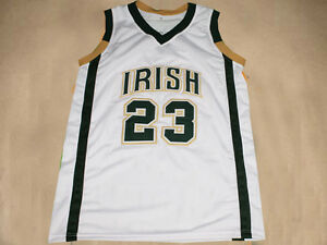 buy popular 1ffa2 66d63 LEBRON JAMES IRISH HIGH SCHOOL JERSEY WHITE NEW SEWN - ANY ...