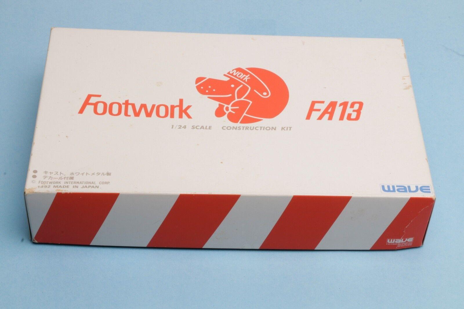 WAVE F1 1 24 Footwork Footwork Footwork FA13 resin metal model kit, AS IS, started b54939