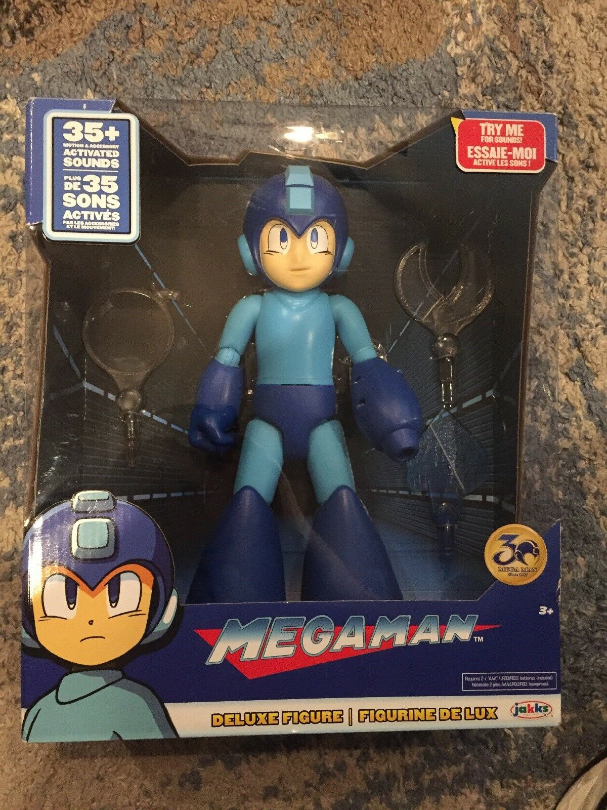Megaman Deluxe Action Figure Jakks Pacific 12in GET IT FAST  US SHIPPER