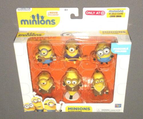 """asiatique Minions Movie Action Figure Set 6 Présentoir Minion figures 3/"""" Banana Bob"""