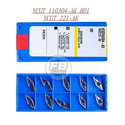 For Aluminum 10pcs  VCGT110304-AK H01 VCGT221-AK Carbide inserts Cutter blade