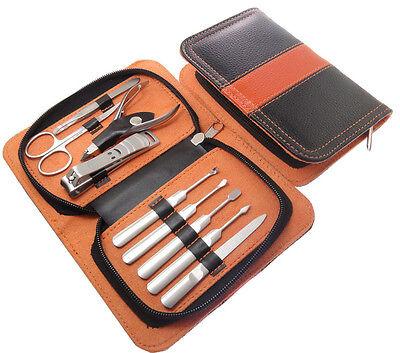 Womens 9 In 1 Stainless Nail Clipper Nipper Cutter Pedicure Manicure Set Kit Man