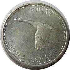 elf Canada 1 Dollar 1967 Confederation Centennial  Goose  Silver