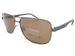POLAROID-metal-Dark-Ruthenium-Blue-Sunglasses-Brown-Polarized-Lenses-PLD2042-RW2