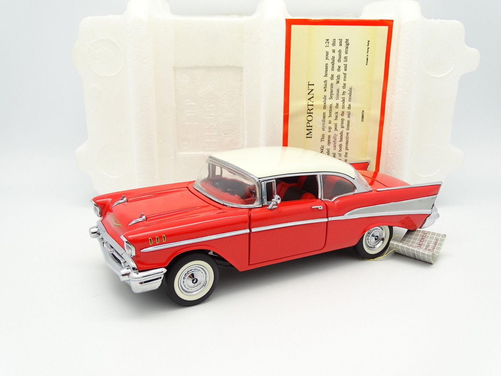Franklin Mint 1  24 Chevrolet Bel Air 1957 röd