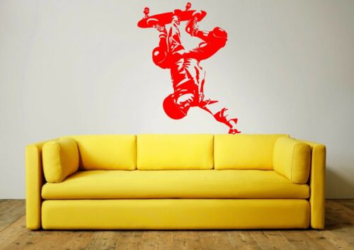 many colours mural 2 x sizes SKATEBOARDER Wall Art Sticker decal