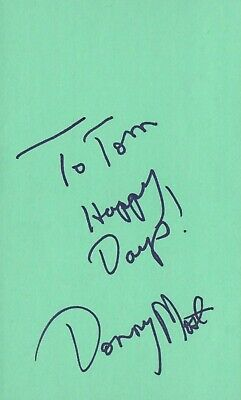 Conscientious Donny Most Actor Singer 1978 Happy Days Tv Movie Autographed Signed Index Card A Complete Range Of Specifications Movies Cards & Papers
