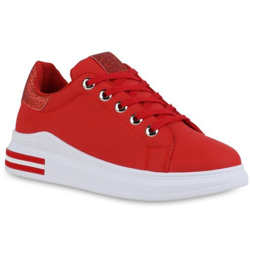 Damen Sneaker Wedges Keilabsatz Schnürer Keilsneaker 834749 Schuhe