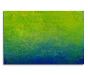 120x80cm-Quadro-su-tel-su-cornice-Astratto-Giunto-Blu-Verde-Pittura