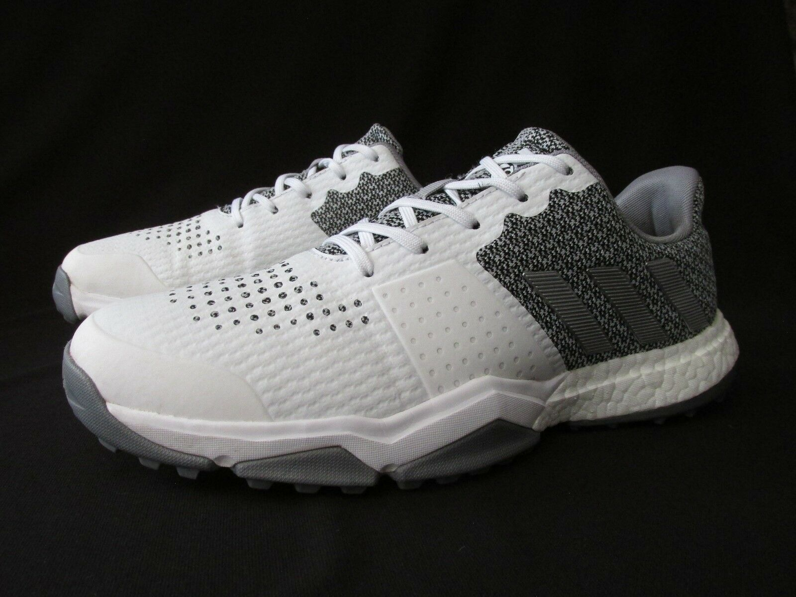 Adidas Adipower S Boost 3 White Silver Metallic Golf Shoes Men's 8.5M