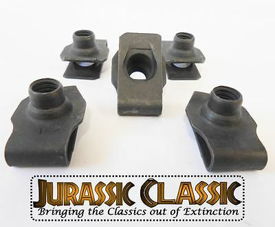1946-80 Mopar 10pk 5//16-18 Extruded Fender U-Nuts Clips Hood Body Panel Glovebox